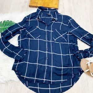 Lucky Brand Checkered Collared Button Shirt D1207